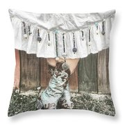 Skirts And Dangles Throw Pillow