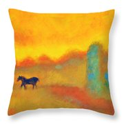 Skittish Throw Pillow