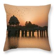 Skn 1370 Flying Time Throw Pillow