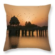 Skn 1372 Sunrise Flight Throw Pillow