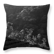 Skn 6707 Tree Parade. B/w Throw Pillow