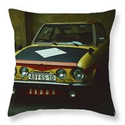 Skoda 110r Coupe Throw Pillow