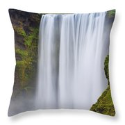 Skogafoss - Iceland Throw Pillow
