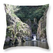 Skryje Waterfall And Pond Throw Pillow