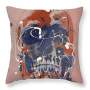 Skull #6 Throw Pillow