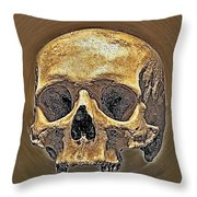 Skull. Throw Pillow