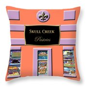 Skull Creek Pastries Throw Pillow