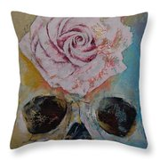 Rose Throw Pillow by Michael Creese