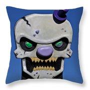 Skull Fun House Sign Throw Pillow