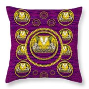 Skull Hands In A Flower Scenery Popart Throw Pillow
