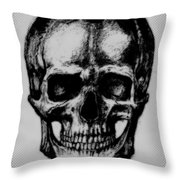 Skull In Shadow Throw Pillow