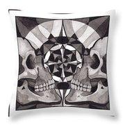 Skull Mandala Series Nr 1 Throw Pillow by Deadcharming Art