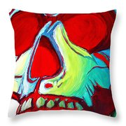 Skull Original Madart Painting Throw Pillow