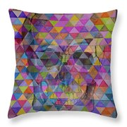 Skull Triangle Throw Pillow