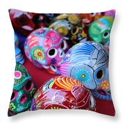 Skulls Day Of The Dead  Throw Pillow