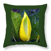 Skunk Cabbage Throw Pillow