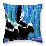Skunks Throw Pillow