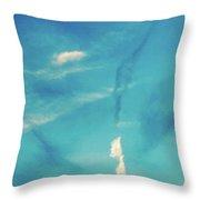 Sky Abstract-casco Bay Throw Pillow