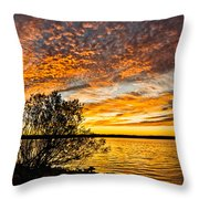 Sky Afire Throw Pillow
