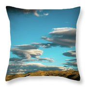 Sky And Clouds Garuda Valley Tibet Yantra.lv Throw Pillow