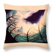 Sky And Land Symphony Throw Pillow