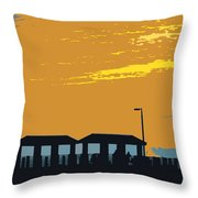 Sky And Pier Throw Pillow