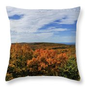 Sky And Trees Throw Pillow