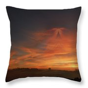 Sky Angel Throw Pillow