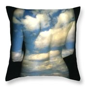 Sky Throw Pillow by Arla Patch