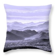 Sky Blue Hills Of The Tonto Throw Pillow