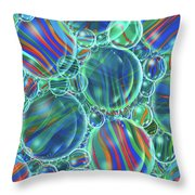 Sky Blue Marbles Throw Pillow