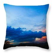 Sky Blue Sky Black Throw Pillow