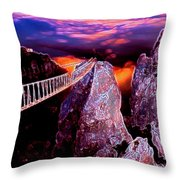 Sky Bridge Throw Pillow