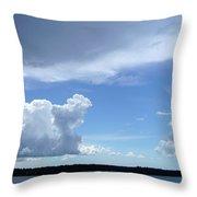 Sky Calm Throw Pillow