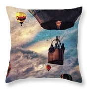 Sky Caravan Hot Air Balloons Throw Pillow