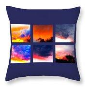 Sky Colours Throw Pillow