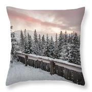 Sky Crack Over Tatra Mountains Throw Pillow