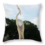 Sky Crane Throw Pillow