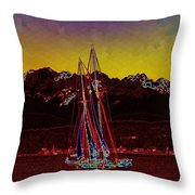 Sky Diamonds Throw Pillow