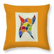 Sky Diver Watercolor Throw Pillow