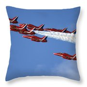 Sky Dolphins Throw Pillow