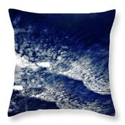 Sky Emulating The Sea Throw Pillow