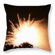 Sky Fire And Palms Throw Pillow