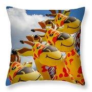 Sky Giraffes Throw Pillow