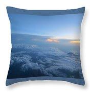 Sky High Mountain  Throw Pillow