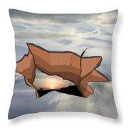 Sky Hole Sky Throw Pillow