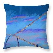 Sky Lights Throw Pillow