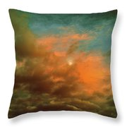 Sky Moods - When The Moons Behind The Clouds Throw Pillow