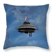 Sky Needle Throw Pillow