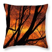 Sky On Fire Throw Pillow